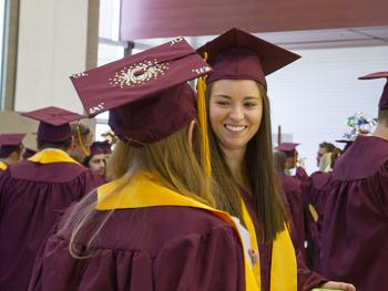 ASU student Anna Witcraft at graduation