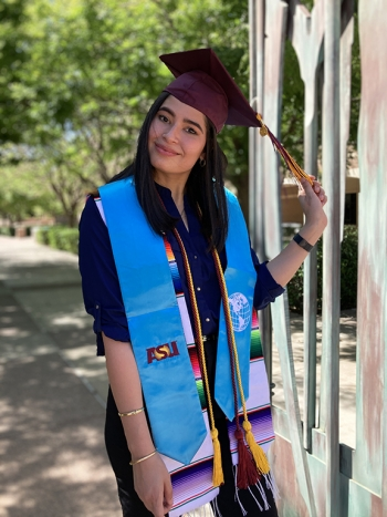 Ana Paula Chavarry Pizzorno completed her ASU bachelor's degree and Master of Global Management degree in Thunderbird's 4+1 program
