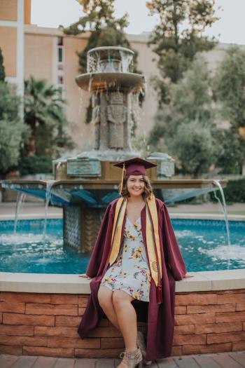 ASU spring 2019 graduate Taylor Bakeman