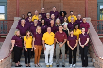 group photo of members of the ASU Alumni Association Board of Directors and National Alumni Council for the 2021-2022 academic year
