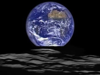 View of Earth from the moon.