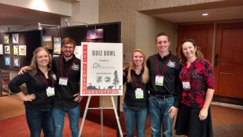 ASU Quiz Bowl team with Professor Heather Bateman at TWS 2017 in Albuquerque