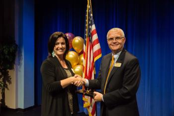 EAC president Mark Bryce and ASU vice provost Maria Hesse