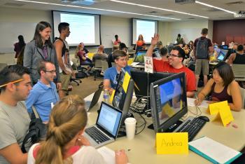 ASU students participate in a class discussion