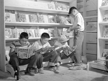Japanese-American boys in an internment camp