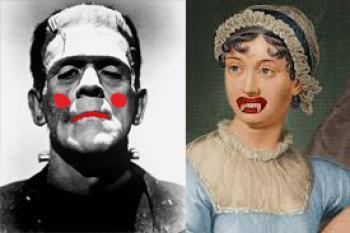 Frankenstein, Jane Austen photoshopped art