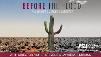 """poster for """"Before the Flood"""" event"""