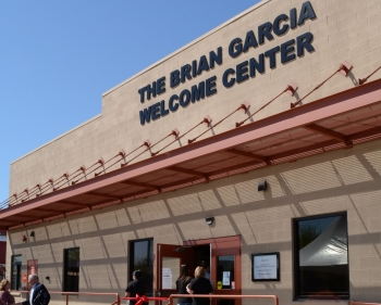 exterior of the Brian Garcia Welcome Center, Human Services Campus in downtown Phoenix
