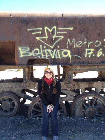 Photo of ASU Alum Rachel Bishop in Bolivia.