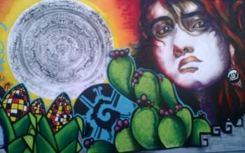 Diverse artists featured this fall at asu 39 s west campus for Calle 16 mural project