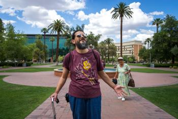 "Arturo ""Art"" Virgen-Sandoval tours Old Main in Tempe"