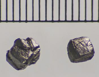 extreme close-up of diamond grains from Canyon Diablo meteorite