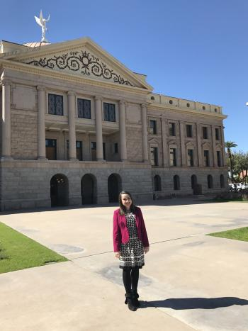 ASU alumna at the Arizona State Capitol