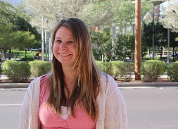 ASU student Jennifer Pitts