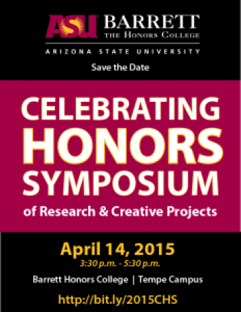 Celebrating Honors Symposium poster