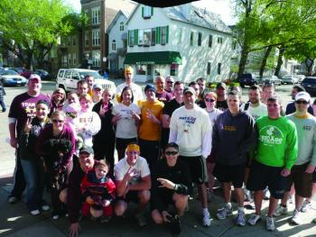 ASU alumni after a Pat's Run Shadow run in Chicago