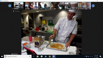 Kent Moody demonstrates a recipe