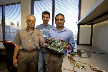 Sarma Vrudhula, recently named an IEEE Fellow, has discovered techniques to save energy in our digital devices without sacrificing performance. Photography: Jessica Hochreiter/ASU
