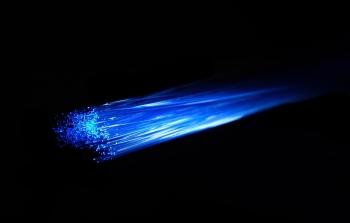 abstract illustration of internet fiber optics