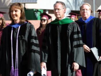 Dean Teri Pipe, Executive Vice Provost Keith Lindor, and Interim Associate Execu