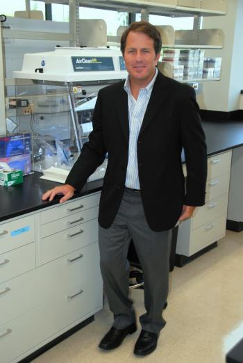 man standing in a lab