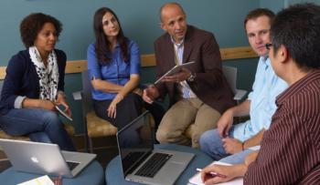 David Garcia meets with grad students