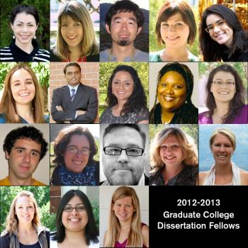 Doctoral Dissertation Fellows for 2012-2013