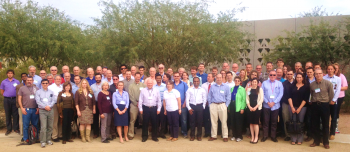 DOE Conference attendees on the AzCATI site at ASU.