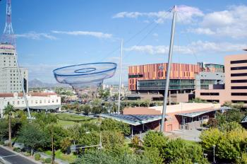 view of ASU's buildings in downtown Phoenix