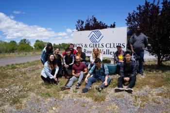 Photo of design students at the Boys and Girls Club of Round Valley