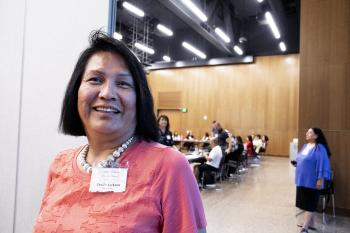 Trudie Jackson graduated with a master's degree in tribal leadership and governance from The College's American Indian studies program.