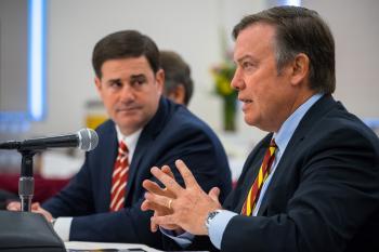 ASU President Michael Crow and Arizona Governor Doug Ducey