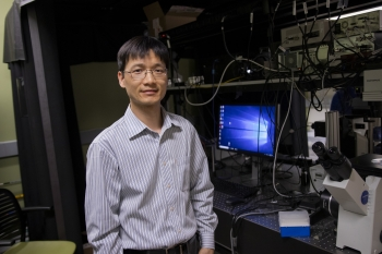 Electrical engineering assistant professor Chao Wang 3D printing