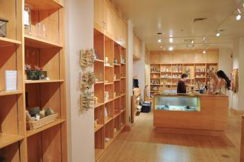 interior of ASU Art Musuem Store, Brickyard location