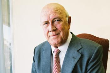 FW de Klerk, the South African president who ended apartheid.