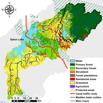 Land use land cover in the Panama Canal watershed (year 2008)