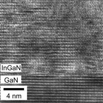The atomic arrangement at a relaxed InGaN/GaN interface