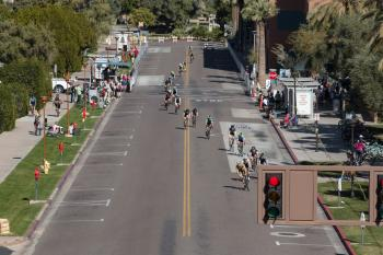 people in bike race on ASU Tempe campus