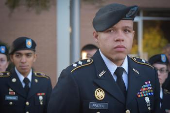 Army ROTC Cadet Gerald Prater