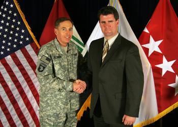 Gillen with General Petraeus in Iraq