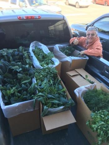 Paris Masek hauling veggies for Green on Purpose / Courtesy photo