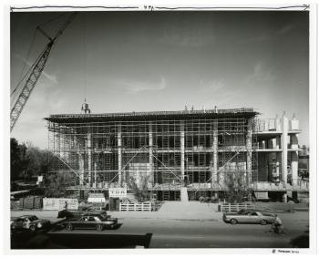 Construction of Hayden Library in 1965