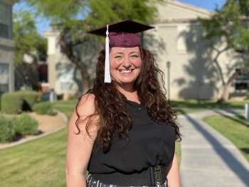 ASU College of Integrative Sciences and Arts Outstanding Graduate spring 2020 H. Rae Monk