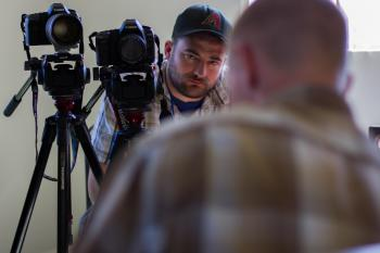 Camera operator and subject