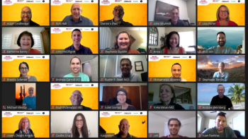 Zoom screenshot showing some of the participants in the Health Innovation and Entrepreneurship Workshop