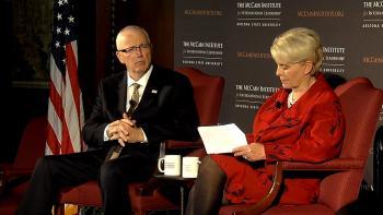 Cindy McCain, John F. Clark, McCain Institute