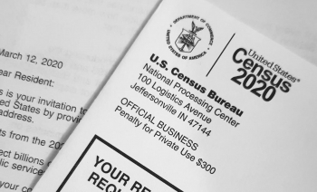 A photo of the 2020 census letter