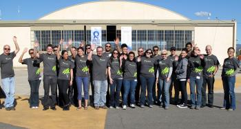 The ASUNM Solar Decathlon team in Irvine, Calif., in early 2013.