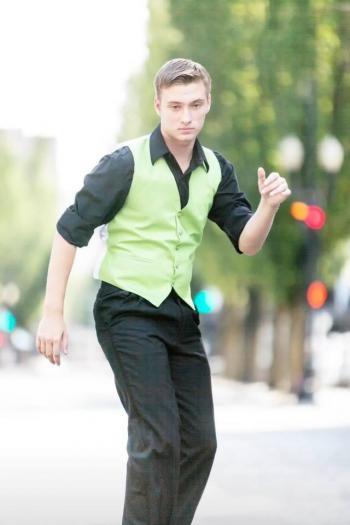 ASU undergraduate student Maximilian Bourque dancing