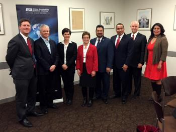 ASU and Phoenix leaders join with Dame Ellen MacArthur to announce their membership in the CE100.